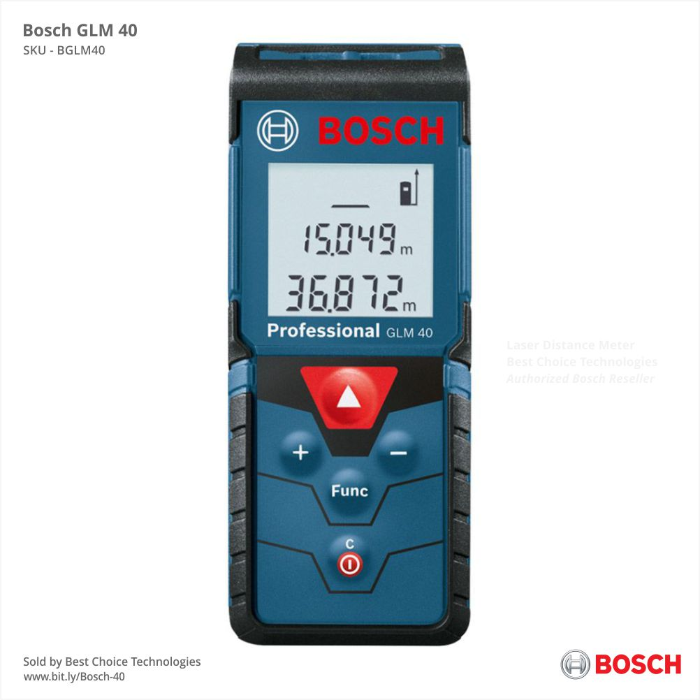 Bosch GLM 40m | Free Shipping | Mumbai, India | Authorized